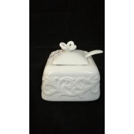 Zuccheriera porcellana bianca